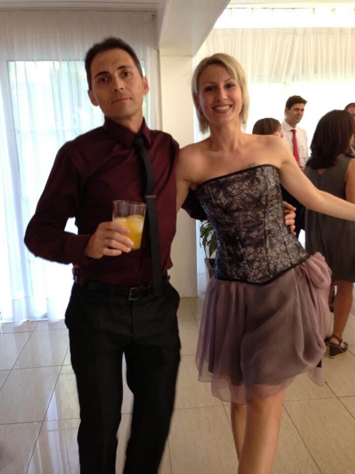 Vestido de fiesta con corset diferente