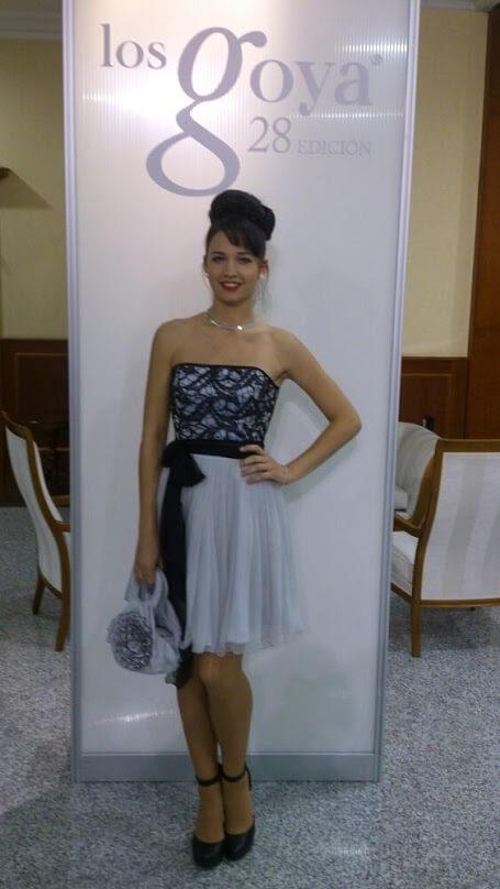 Vestido de fiesta en los Goya Martha Peters