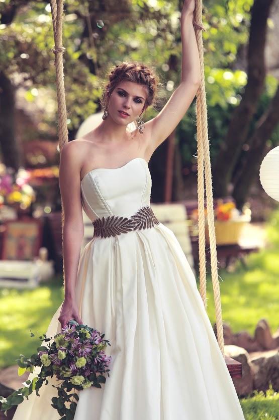 Vestido de novia con corset