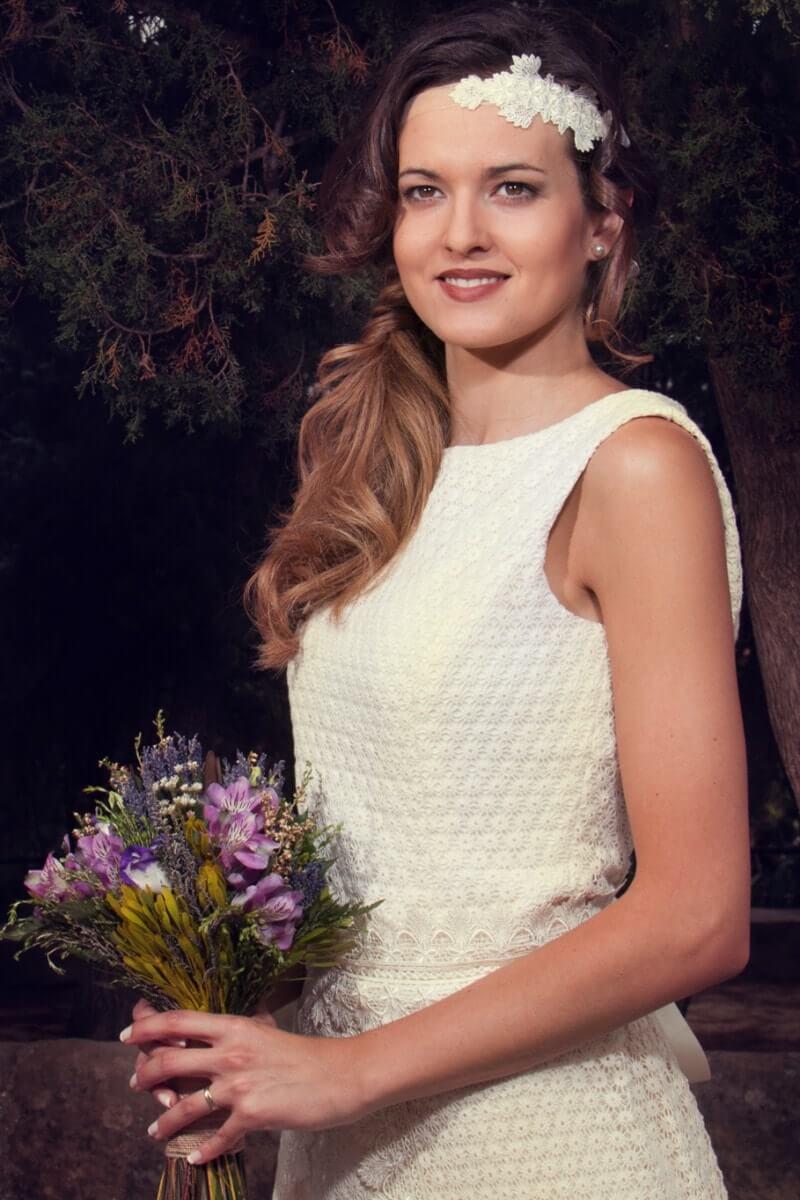 tejido de novia margaritas