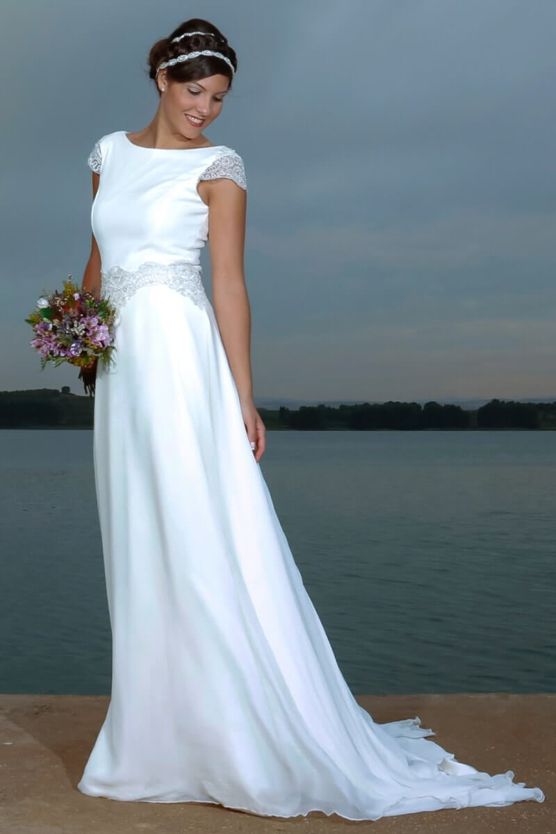 elegante vestido de novia diferente