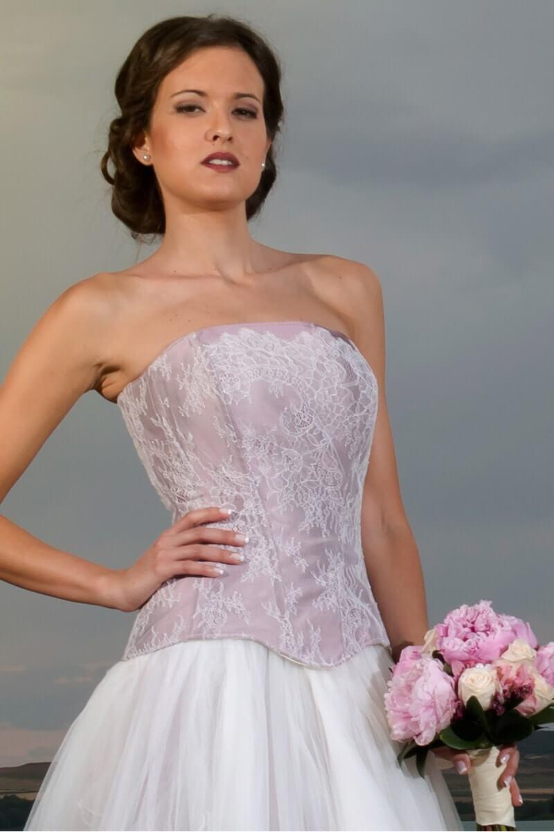 corset malva para novia