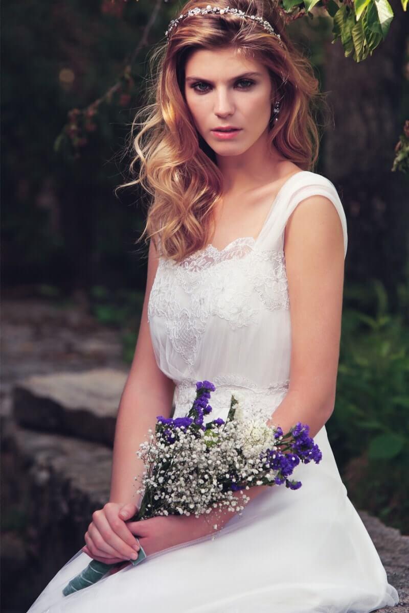 conjunto de boda en tul y puntillas