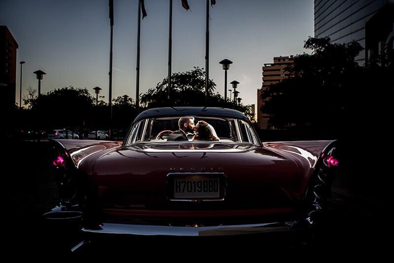 boda en coche
