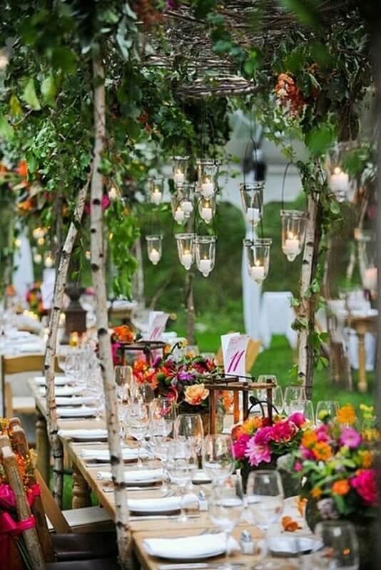 bodas velas flores