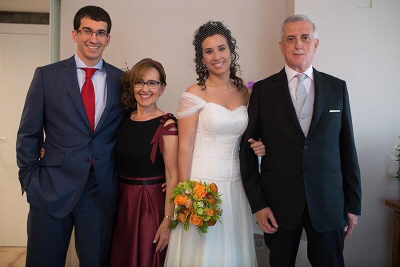 foto después de la boda