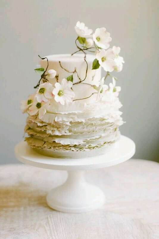 mini tarta flores boda