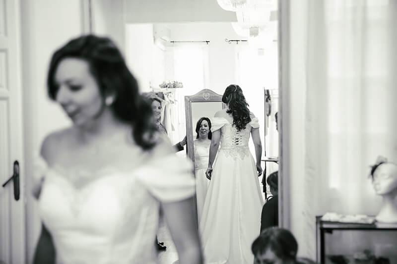 probando vestido de casamiento
