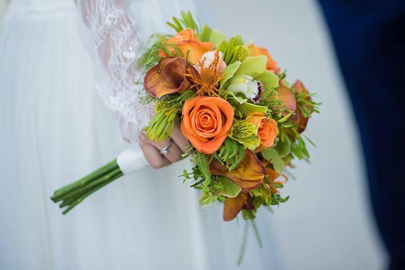 ramo flores naranja