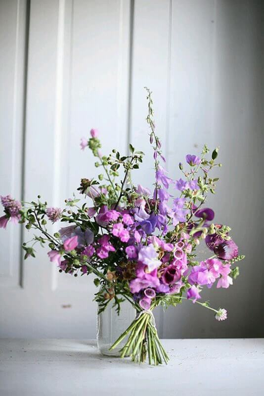 ramo novia lilas