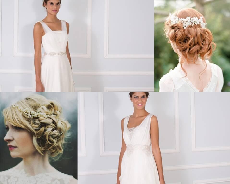 recogido medio para diseño de novia