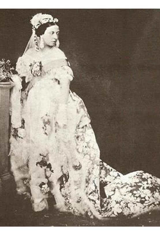 vestido de la reina