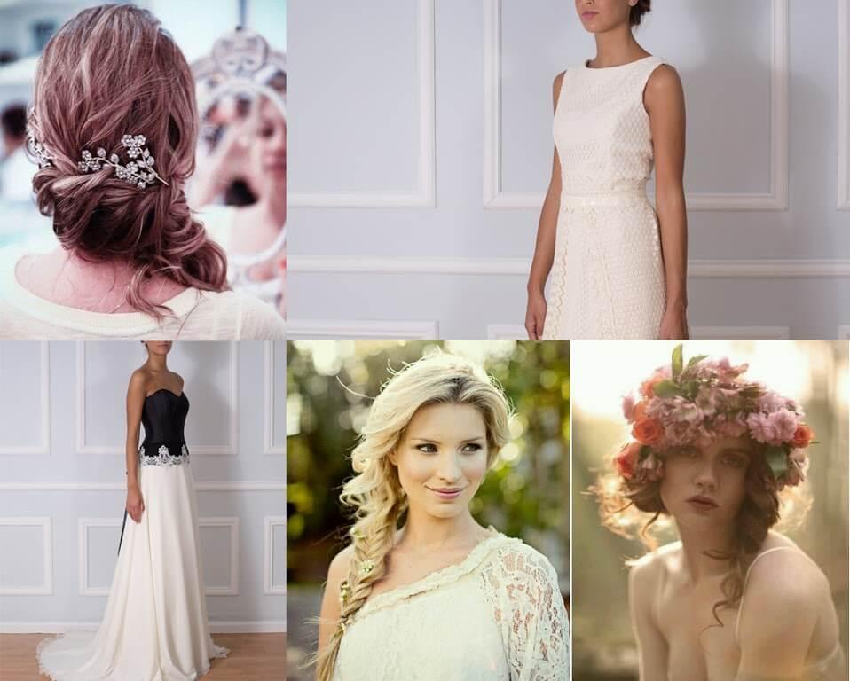 semirecogidos laterales traje de boda