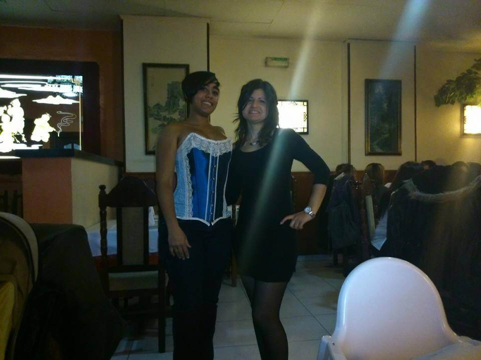 vestido de fiesta con corset