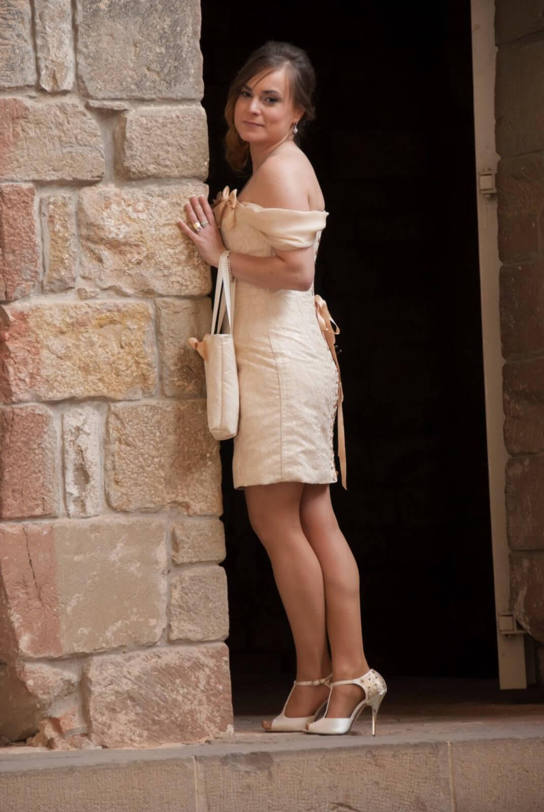 vestido de novia diferente, con corset