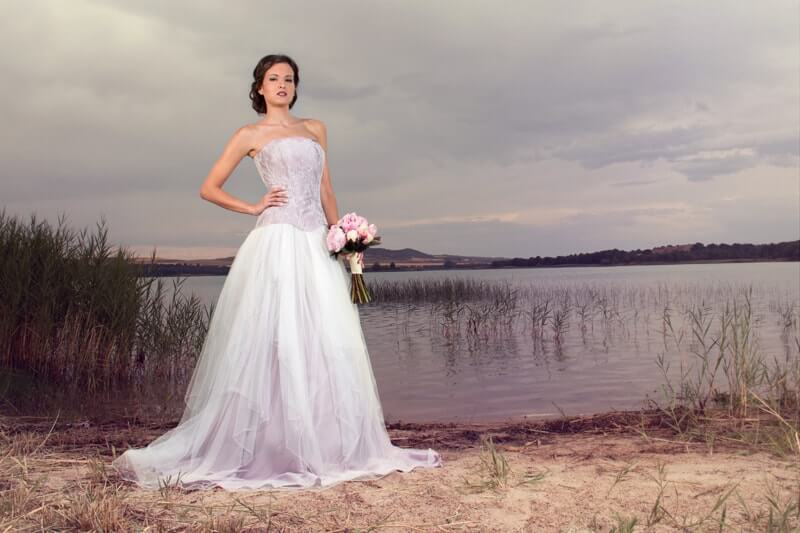 vestido novia malva