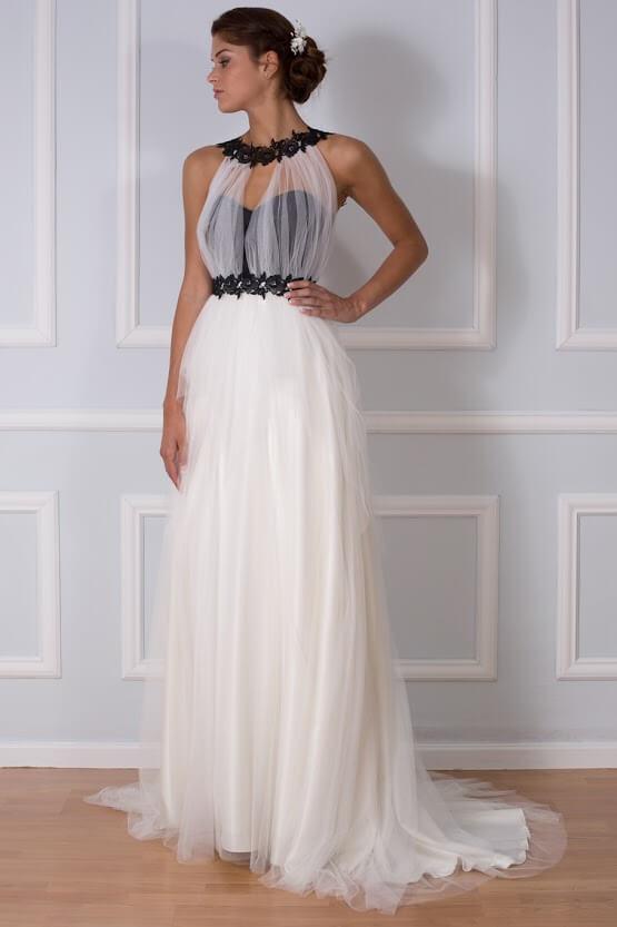 vestidos de novia con negro-min