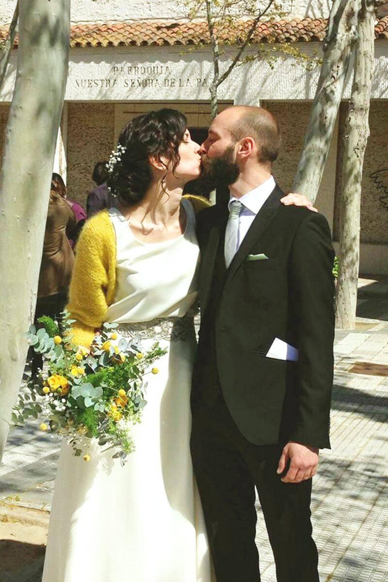 vestidos de novia color