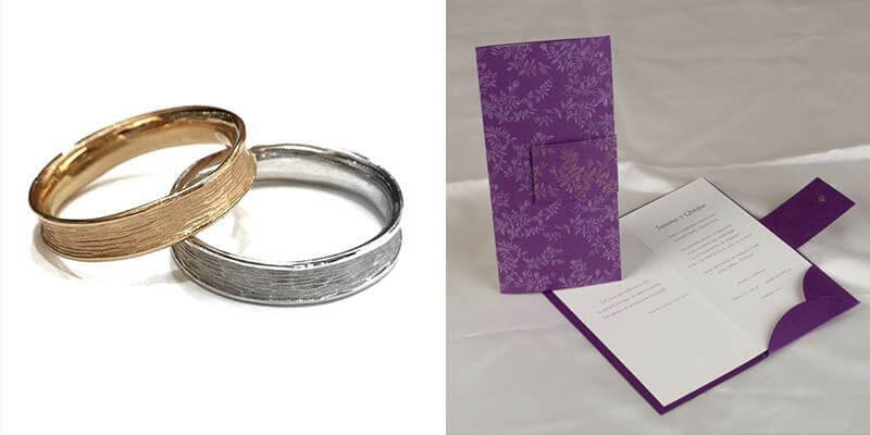 invitacion Funky bodas y anillos Barney Barnato