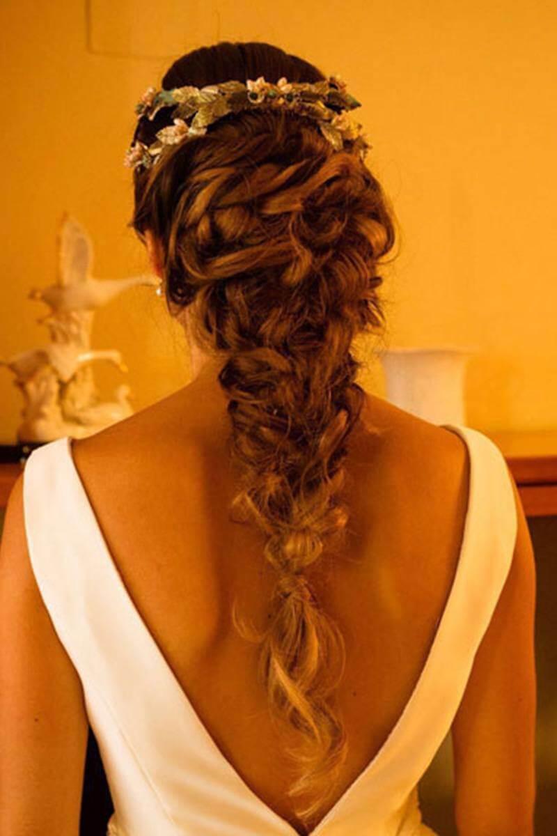 trenzas para novia