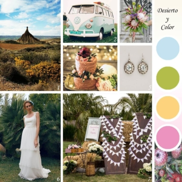 Una boda en el desierto a todo color