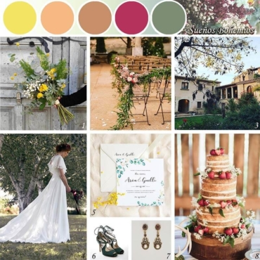 Ideas para una boda de inspiración boho – chic