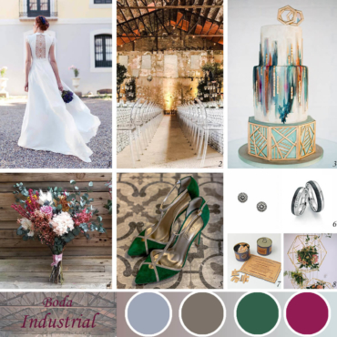 Una boda industrial a todo color