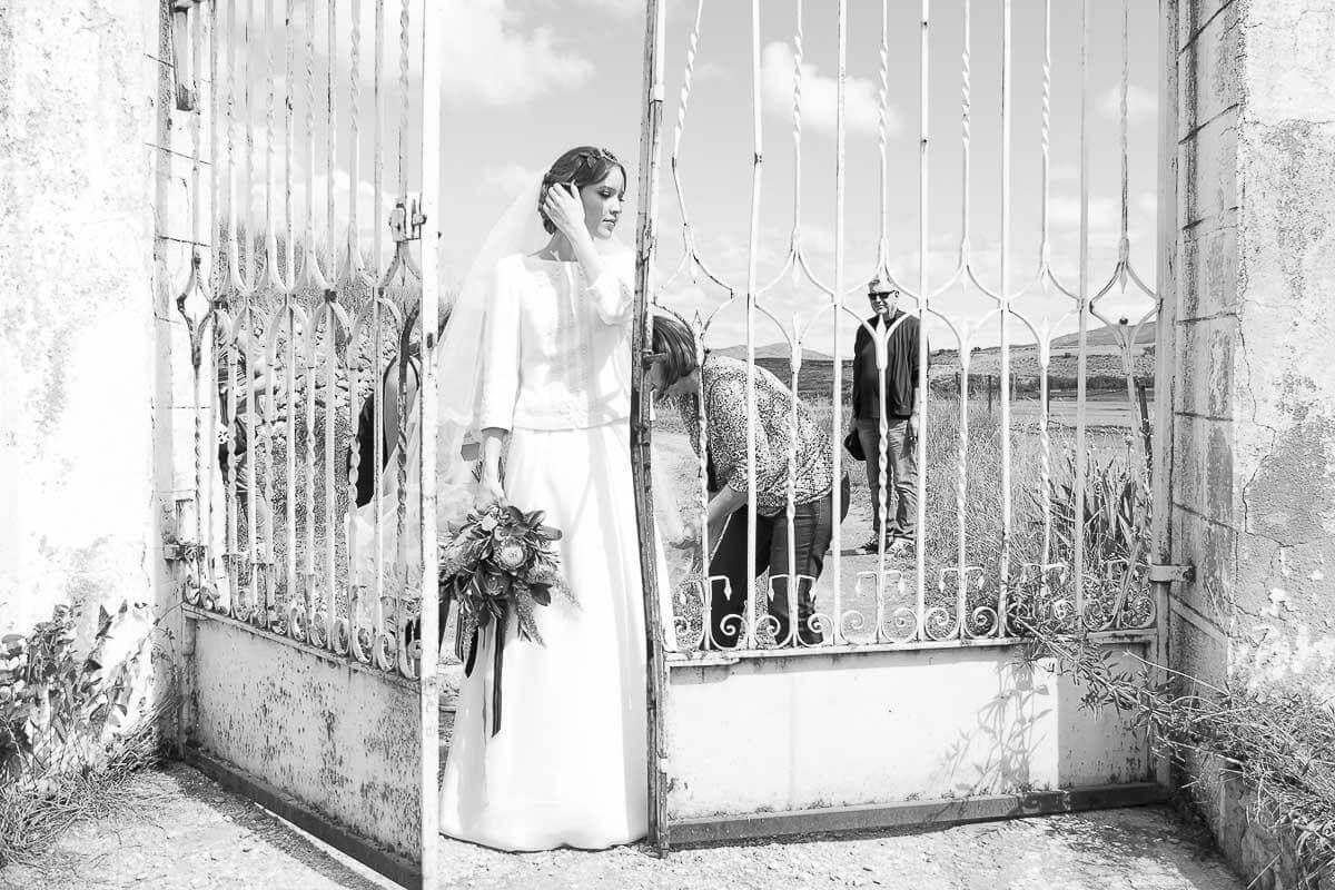 novia entrando boda