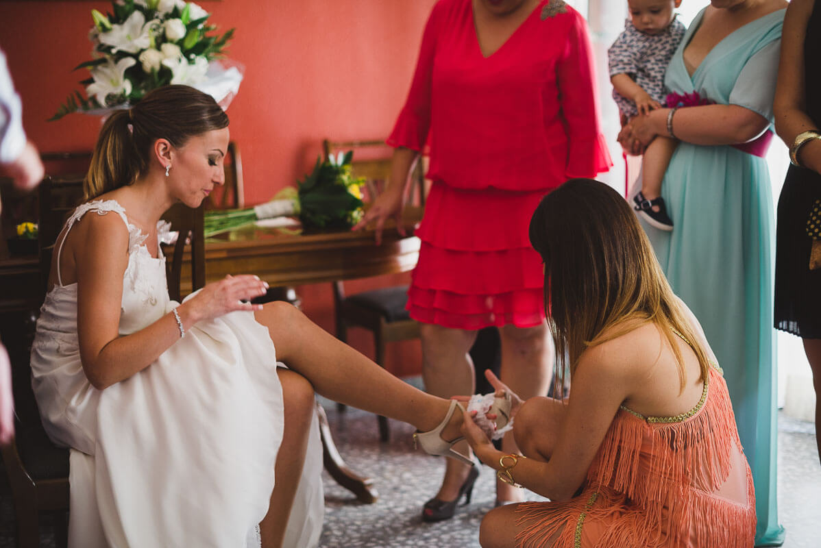 vestidos novia de color