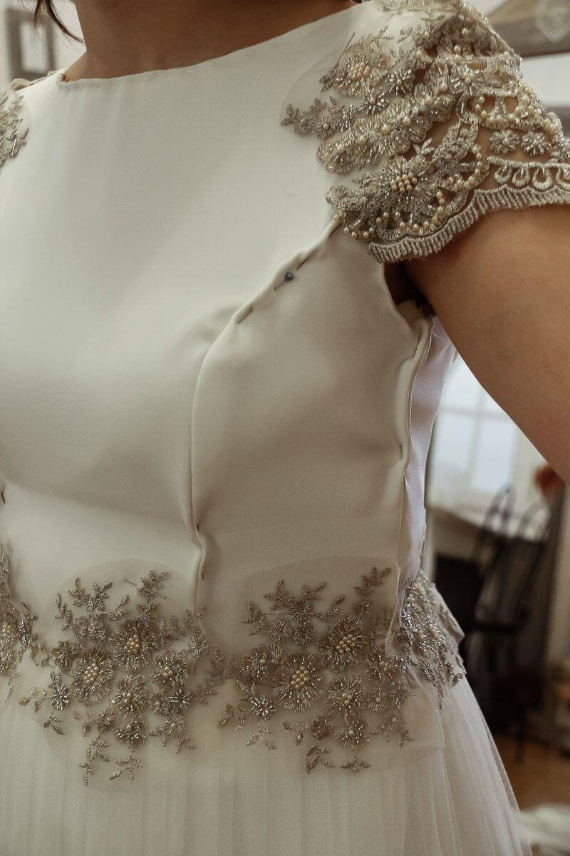 novia real vestido a medida Martha Peters