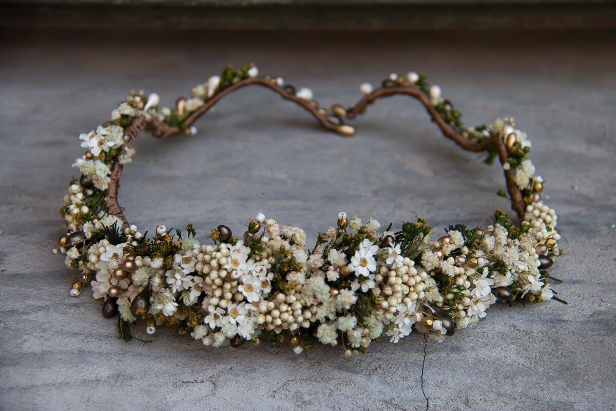 coronas de novia originales