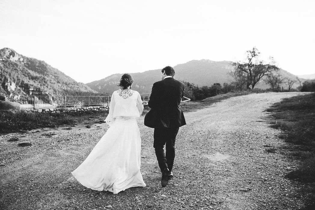 novia real en el pirineo