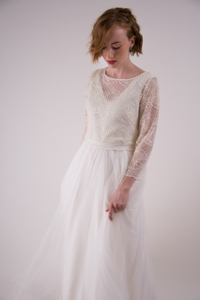 trajes de novia sencillos