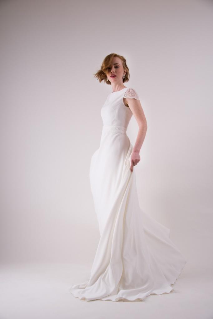 vestido de novia sencillo largo