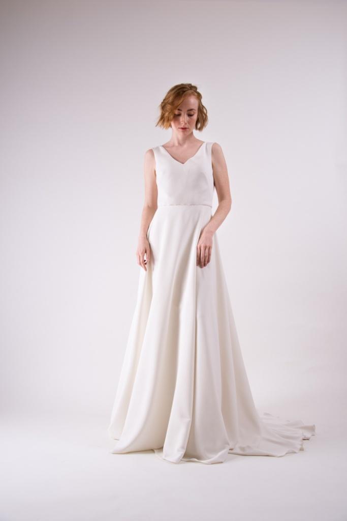 vestido novia corte a