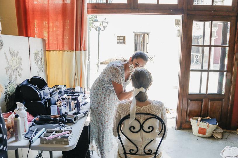 Making of colección novia Desde mi Buhardilla