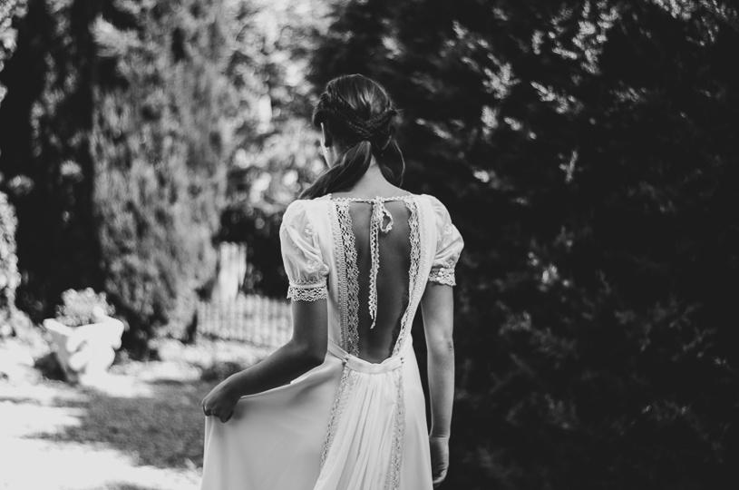 vestido de novia manga abullonada