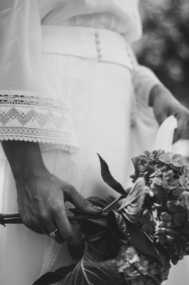 Un vestido de novia de estilo romántico