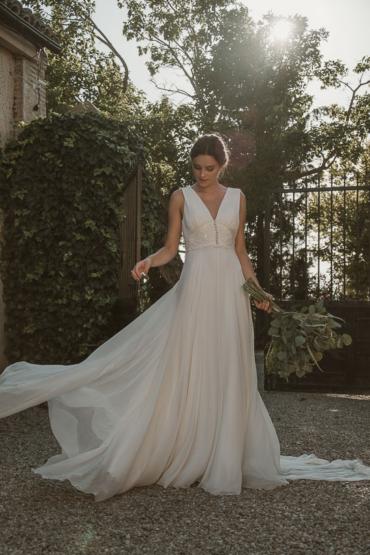 Tejidos especiales para vestidos de novia: Gasa o muselina