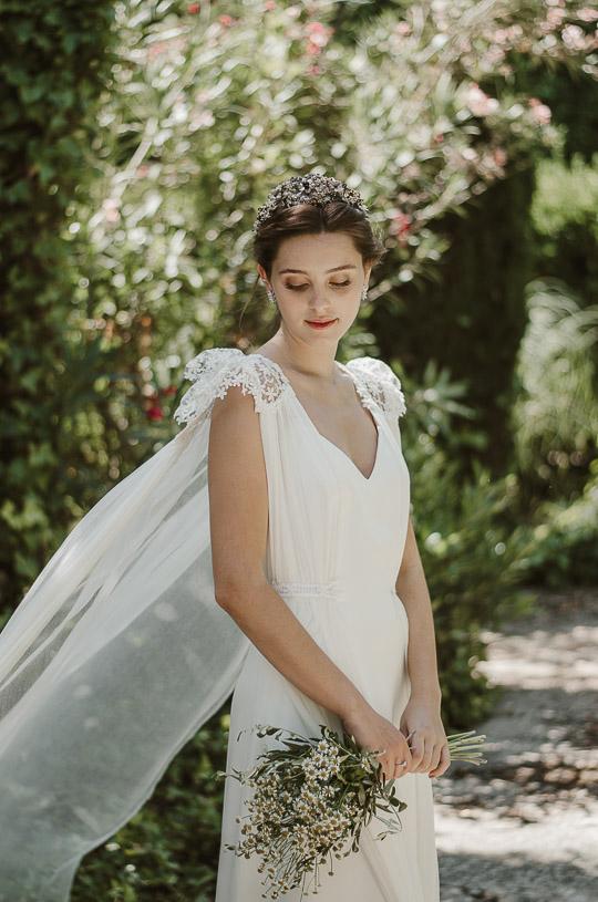 tejidos diferentes de novia